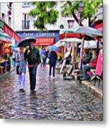 Tourists - Paris - Place Du Tertre Metal Print