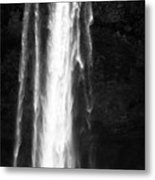 tourists pose for photographs in front of Seljalandsfoss waterfall iceland Metal Print