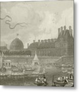 Tournay On The Seine During The July Fetes Metal Print