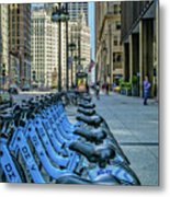Towards Wrigley Building Metal Print