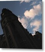 Tower And Clouds Metal Print