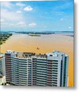 Tower And Guayas River Metal Print