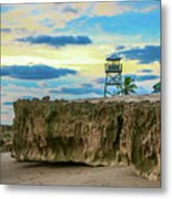Tower And Rocks Metal Print