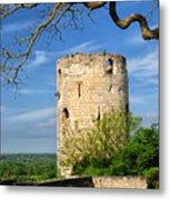 Tower At Chateau De Chinon Metal Print