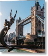 Tower Bridge, London, Uk Metal Print