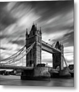 Tower Bridge, River Thames, London, England, Uk Metal Print
