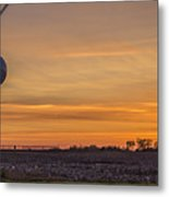 Tower By Sunset Metal Print