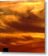 Tower In Sunset Metal Print