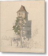 Tower Of A Fortified House [recto] Metal Print