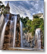Tower Of Fountain Metal Print
