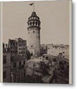 Tower Of Galata,  Metal Print