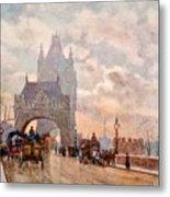 Tower Of London Bridge Metal Print