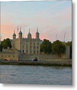 Tower Of London On The Thames Metal Print
