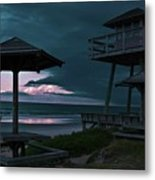 Tower Over The Shoreline Metal Print