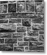 Tower Wall Black And White Metal Print