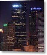 Towering Buildings Of Pittsburgh Metal Print