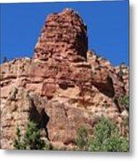 Towering Cliff Metal Print