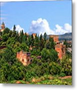 Towers Of The Alhambra Metal Print