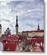 Towers Of The Tallinn Old Town Metal Print