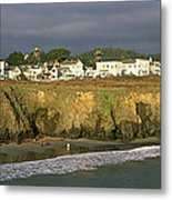 Town At The Seaside, Mendocino Metal Print