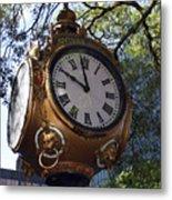 Town Clock Metal Print