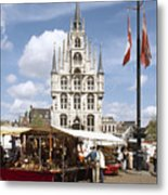 Town-hall And Marketplace Metal Print