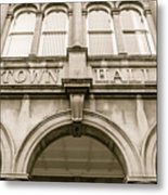 Town Hall, Arch And Windows Metal Print