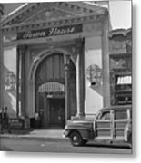 Town House And Woody Station Wagon, Alvarado Street - Monterey   Metal Print