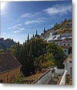 Town In A Valley, Sacromonte, Granada Metal Print