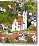 Town Of Krapina Church Vertical View Metal Print