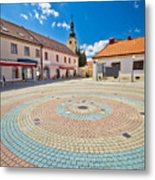 Town Of Ludbreg Square Vertical View Metal Print