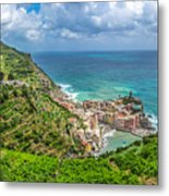 Town Of Vernazza, Cinque Terre, Italy Metal Print