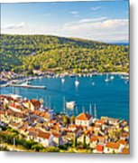 Town Of Vis Panorama From Hill Metal Print