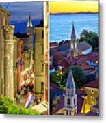 Town Of Zadar Evening And Sunset Travel Collage Metal Print