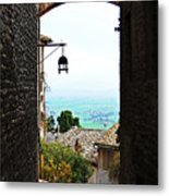 Town View In Italy Metal Print