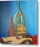 Toy Car And Bottles Metal Print