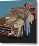 Toy Car Holiday Metal Print