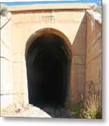 Toy Train Tunnel Metal Print