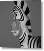 Toy Zebra Metal Print