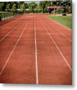 Track And Field Of Depth One Metal Print