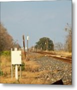 Track Crossing  Metal Print