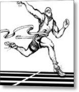 Track Sprinter Metal Print