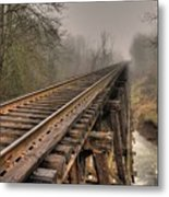 Track To Some Where Metal Print