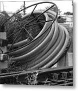 Tracks And Cable Metal Print