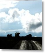 Tracks And Horns Metal Print