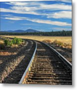 Tracks At Crater Lake Metal Print