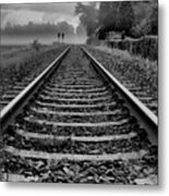 Tracks In The Morning Metal Print