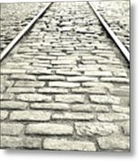 Tracks In The Road Metal Print