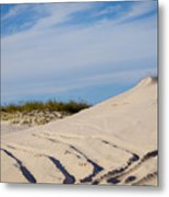 Tracks In The Sand Dunes Metal Print
