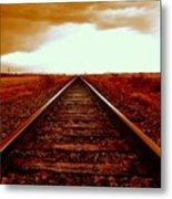 Marfa Texas America Southwest Tracks To California Metal Print